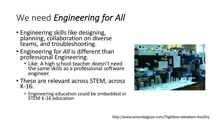 We need engineering for all