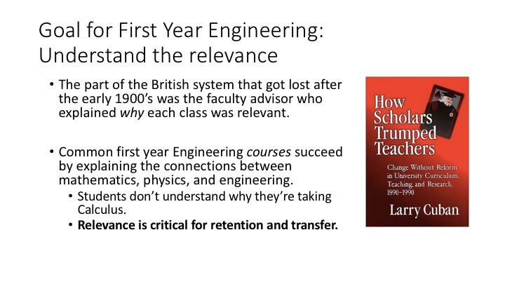 Goal for first-year engineering