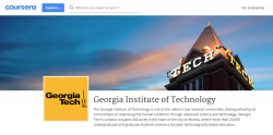 Homepage of GT Coursera courses