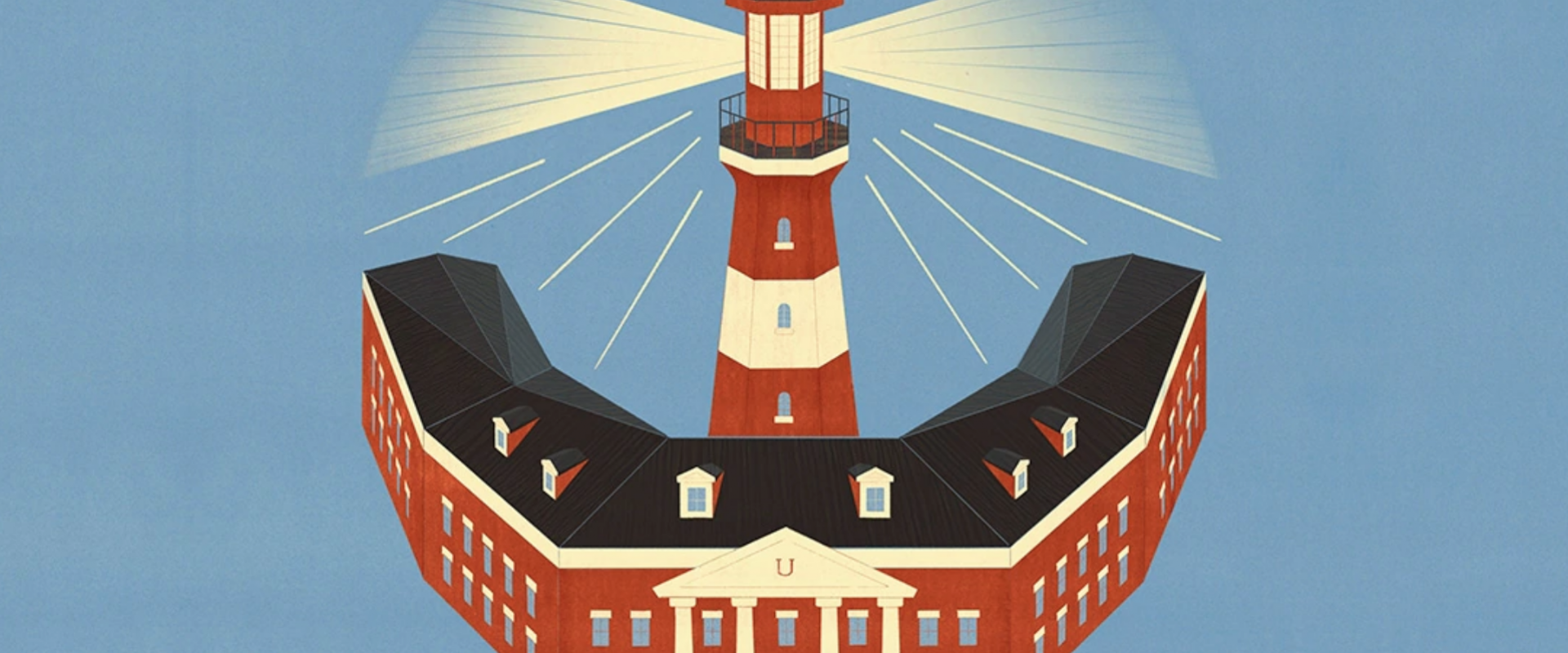 Lighthouse cover art for The Future(s) of Public Higher Education report